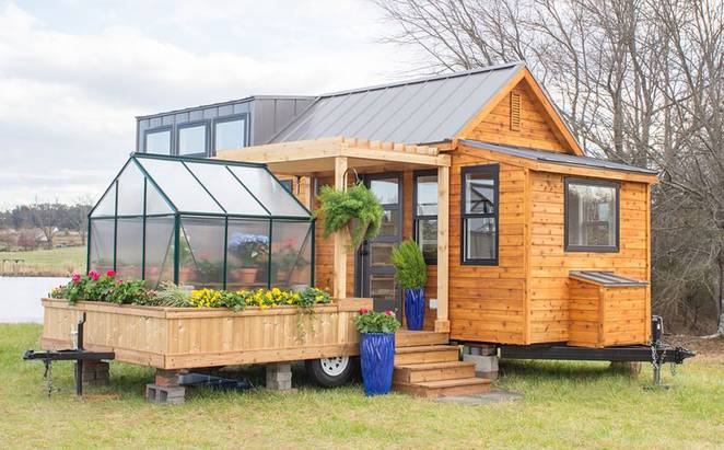 Tiny Haus 13 year luke thill builds own home for just 1 500 articlesvally